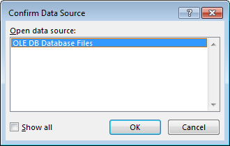 confirm data source